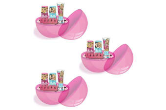 3PK Barbie Girls Party Surprise Ball Mystery Make-up Cosmetic Kit/Set Assorted
