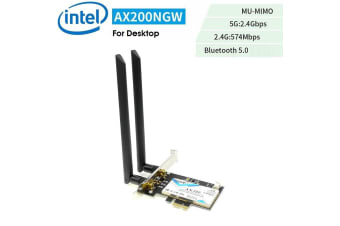 Intel AX200 5G Dual Band 2400M & BT 5.0 PCIE Desktop Wireless Card Adapter WTXUP - AX200NGW