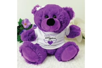 In Loving Memory Memorial Teddy Bear - Purple