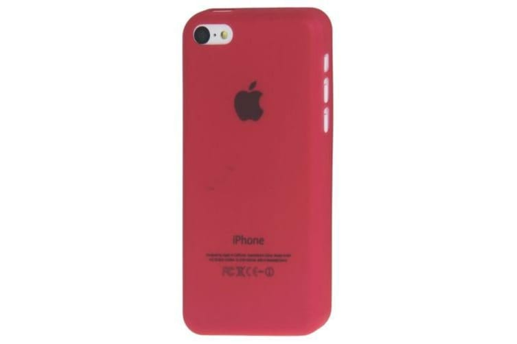 For iPhone 5C Case Modern Ultra-thin Transparent Durable Shielding Cover Red