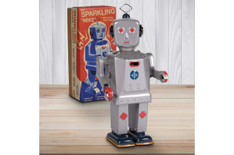 Retro Collectable Sparking Robot Mechanical Walking Toy | Schilling