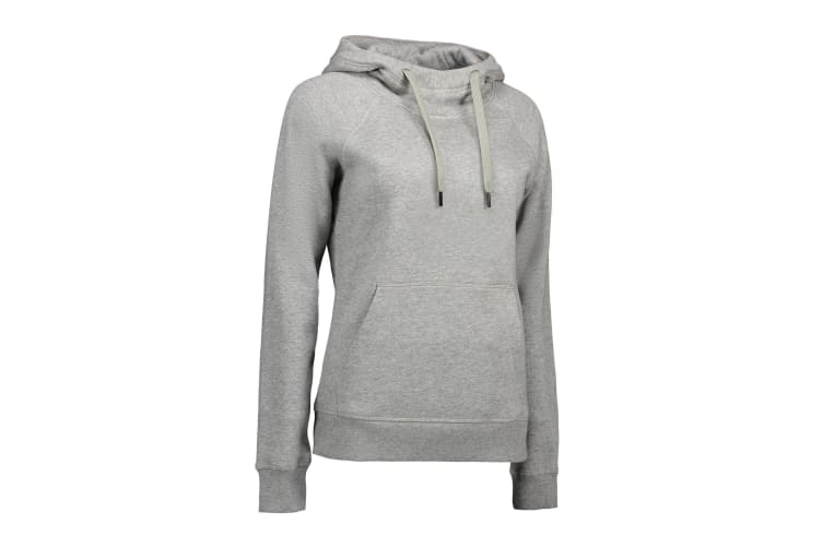 ID Women/Ladies Core Hoodie (Grey Melange) (XL)