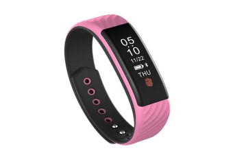 Bluetooth V4.0 Fitness Tracker Watch Rechargeable Heart Rate Monitor Ip67 Pink