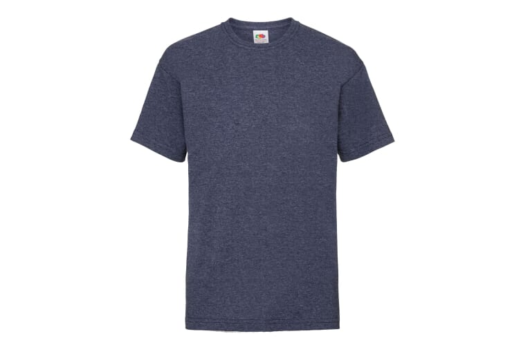 Fruit Of The Loom Childrens/Kids Unisex Valueweight Short Sleeve T-Shirt (Pack of 2) (Vintage Heather Navy) (5-6)