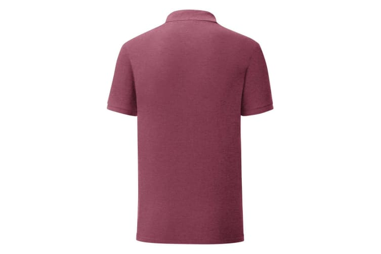 Fruit Of The Loom Mens Iconic Pique Polo Shirt (Heather Burgundy) (3XL)