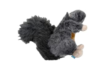 Dog & Co Country Plush Squirrel Dog Toy (Grey) (L)