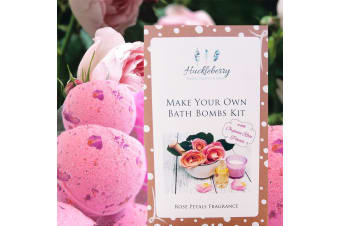 Make Your Own Organic Rose Petal Bath Bombs | Huckleberry