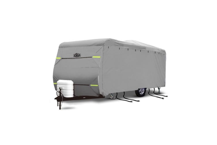 22-24ft Caravan Cover with Reflective Panel Hitch Cover