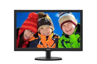 "Philips 24"" Full HD 1920x1080 LED Monitor with Speakers (243V5QHABA)"