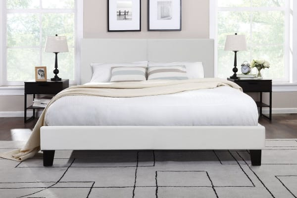 Ovela Bed Frame - Edeva Collection (White, King)