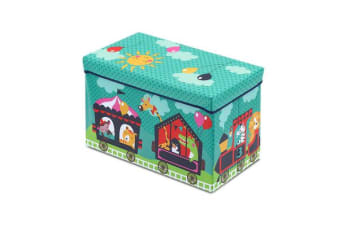 Kids Foldable Storage Toy Box (Green)