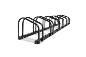 Portable 6 Bay Bike Parking Rack (Black)