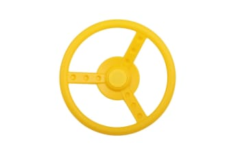Yellow Steering Wheel for Cubby Houses and Backyard Play