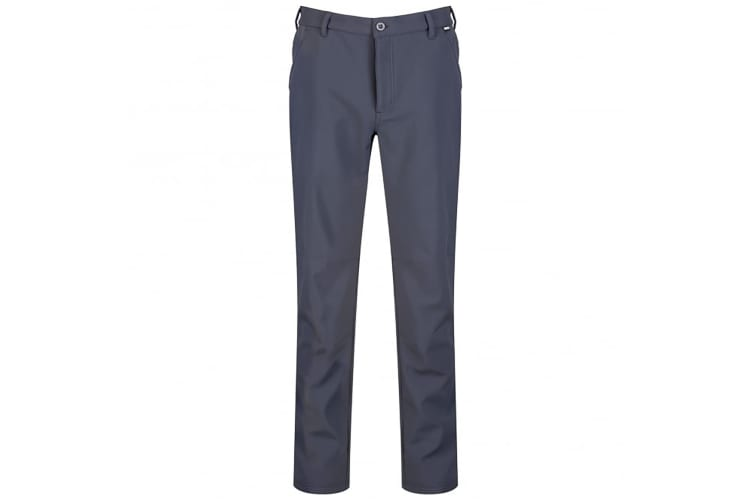 Regatta Great Outdoors Mens Fenton Lightweight Softshell Trousers (Seal Grey) (36S)