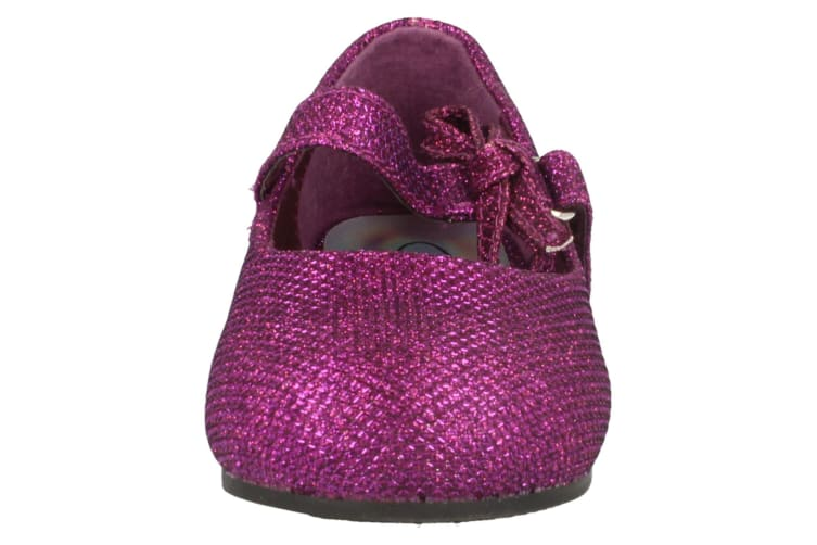 Spot On Childrens/Toddlers Girls Glitter Bow Strap Shoes (Purple) (10 Child UK)
