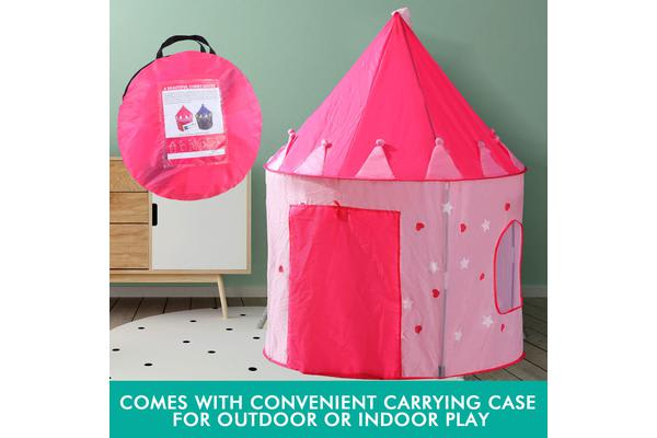 Children Play Tent with Glow in the Dark Stars PINK