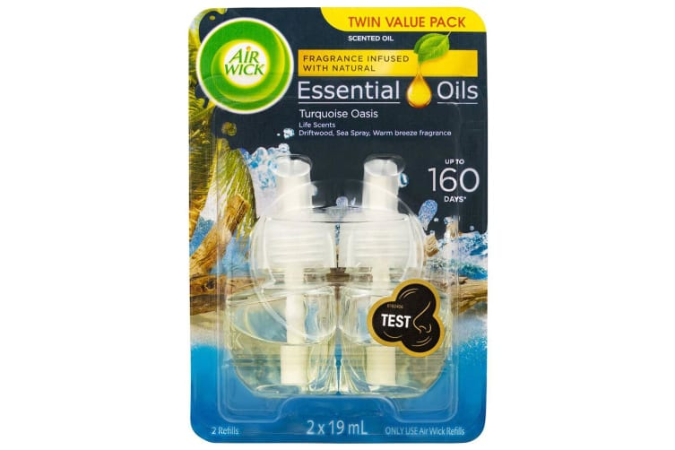 8pc Air Wick 19ml Essential Oils for Electric Diffuser Refill Turquoise Oasis