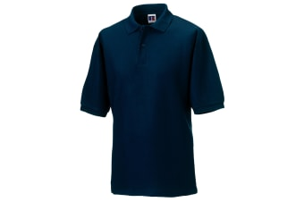 Russell Mens Classic Short Sleeve Polycotton Polo Shirt (French Navy)