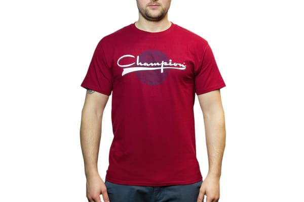 Champion Men's Graphic Jersey Tee - Burnt Brick (Size M)