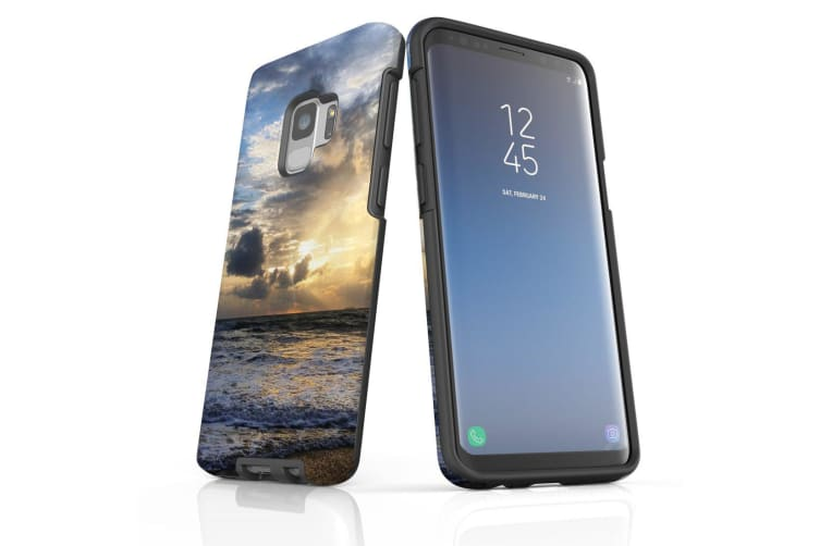 For Samsung Galaxy S9 Case Armour Cover  Wavy Sunset