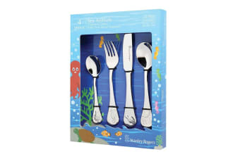 4pc Stanley Rogers Sea Animals Children Kids Cutlery Set Stainless Steel Silver