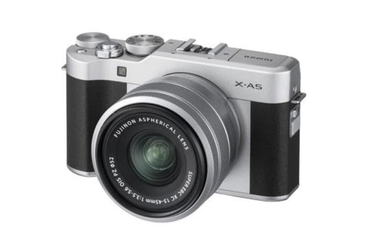 New Fujifilm X-A5 Kit (15-45mm) Digital Camera Silver (FREE DELIVERY + 1 YEAR AU WARRANTY)