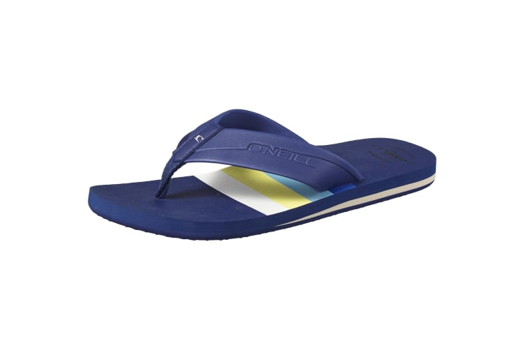 ONeill Mens Imprint Pattern Flip Flops (Blue) (10 UK)