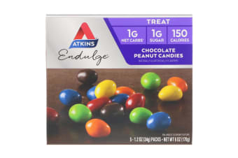 Atkins, Endulge, Chocolate Peanut Candies, 5 Packs, 1.2 oz (34 g) Each