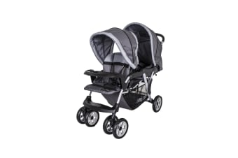 Love N Care Hi Rise Tandem Twin Stroller Ash