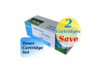 TN-340 Black High Yield Generic Toner (Set of 2)