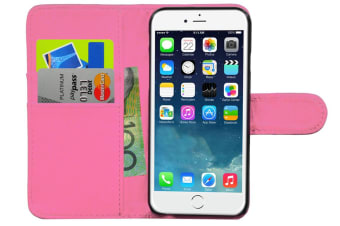 """Pink Wallet Folio Case Cover Pu Leather/Card Holder/ Pocket For Iphone 6 4.7"""""""
