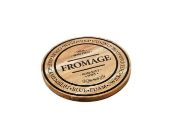 Salt & Pepper Fromage Round Wooden Cheese Board 28cm
