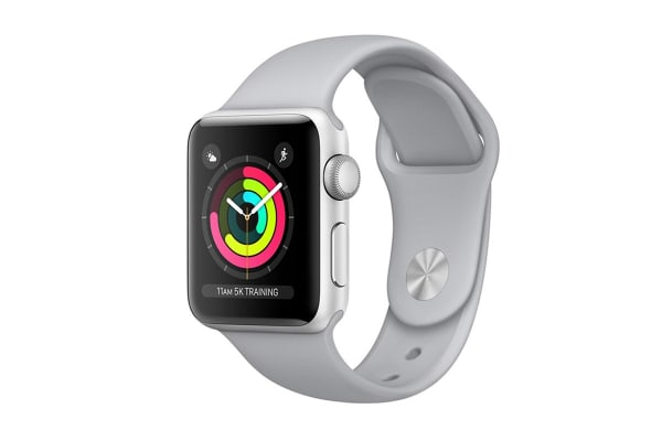 Apple Watch Series 3 (Silver, 38mm, Fog Sport Band, GPS Only)