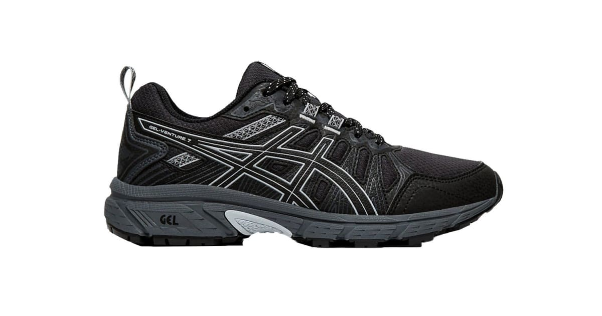 ASICS Women's Gel Venture 7 Running Shoe (BlackPiedmont Grey, Size 6 US) | Shoes |