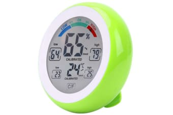 Select Mall Touch Screen Thermometer Round Home Digital Display Hygrometer Indoor Humidity Indoor Thermometer-