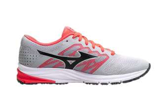 Mizuno Women's SYNCHRO MD 2 Running Shoe (Grey/Red, Size 8.5 US)