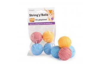 String Y Balls Cat Toy (May Vary) (4pk)