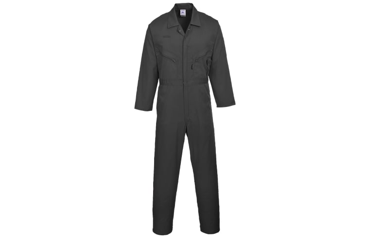 Portwest Mens Liverpool-zip Workwear Coverall (Black) (Extra Large x Regular)