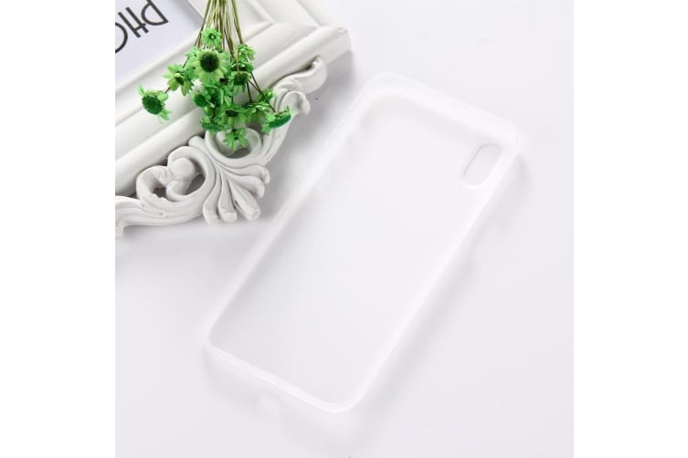 For iPhone XS X Back Case Wear-resistant High-Quality Protective Cover White