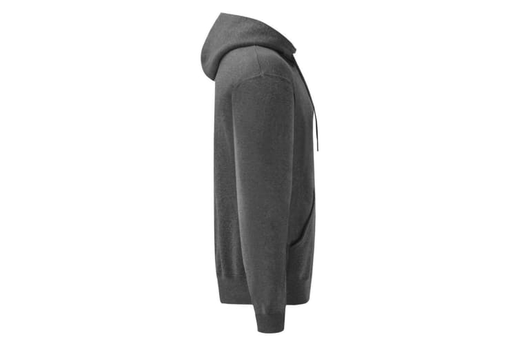 Fruit Of The Loom Mens Hooded Sweatshirt / Hoodie (Dark Heather) (2XL)