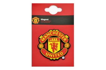 Manchester United FC Official 3D Football Crest Fridge Magnet (Red/Yellow)