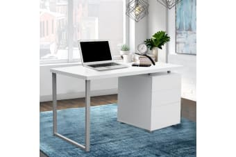Office Computer Desk Study Table Home Metal Student Cabinet White