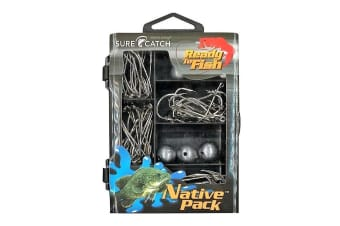 Surecatch 66pc Native Pack In Fishing Tackle Box - Tackle Kit