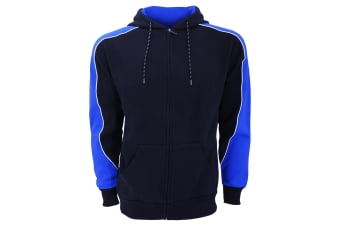 Formula Racing Mens Clubman Full Zip Hooded Jacket / Hoodie (Navy/Light Blue)