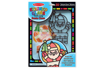 Melissa and Doug Stained Glass Made Easy Santa Claus