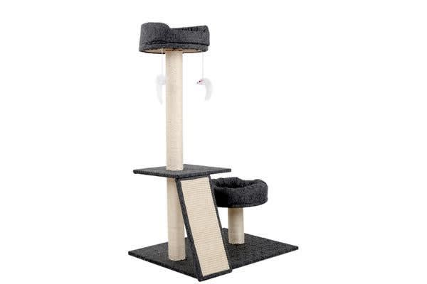 102cm Multi Level Cat Scratching Tree Post (Grey)