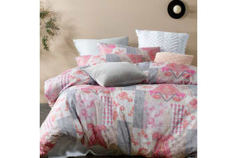 Bronte Bashed Quilt Cover Set Queen