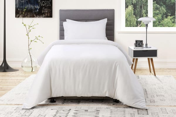 Ovela 1000TC 100% Egyptian Cotton Quilt Cover Set (Single, White)