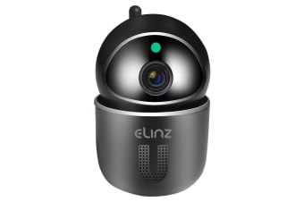 Elinz WiFi IP Security Camera Smart Auto Tracking HD Wireless Pan Tilt CCTV 1080P Black