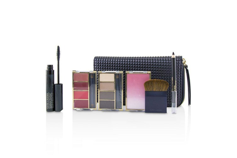Estee Lauder Travel In Color Makeup Palette (4x Eyeshadow, 4x Lipcolor, 1x Blush, 1x Mascara, 1x Eye Pencil)